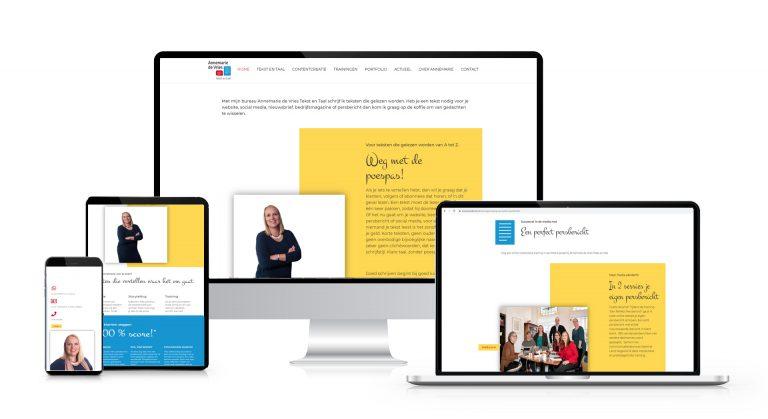 Een frisse website voor Annemarie de Vries