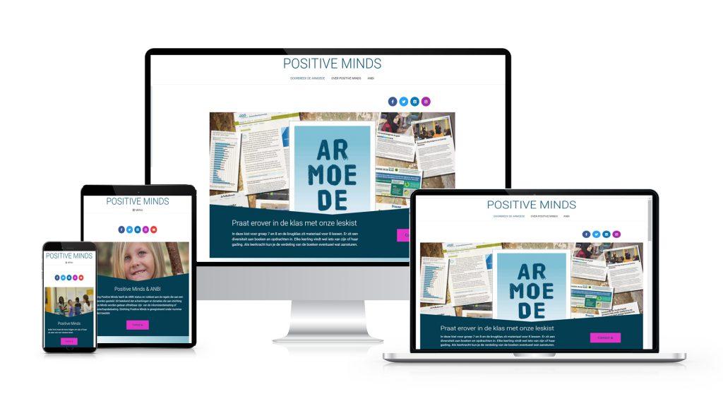 Een website die verder kan groeien voor Stichting Positive Minds